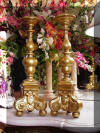 19th Century Italian Altar Candlesticks Gilt Wood