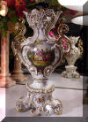 Old Paris Figural and Floral Vase 19th Century Rococo