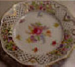 Schumann Chateau Style Dresden Flowers Reticulated Plate